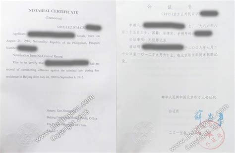 Certificate Of No Criminal Record China Clearance No Criminal Record Certificate