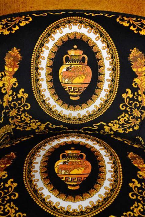 versace pattern fabric stunning pair of biedermeier armchairs versace fabric