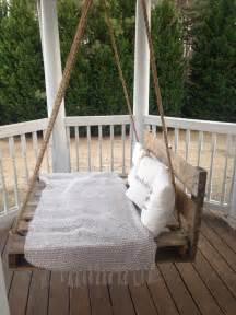 Backyard Treehouse Designs Diy Pallet Swing Bed Pallet Furniture Diy
