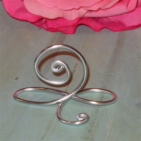 silver table number stands 100 silver infinity bow wire name place cards or small