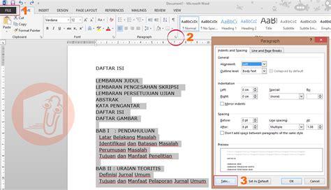 format tab untuk daftar isi cara mudah membuat daftar isi otomatis di microsoft word