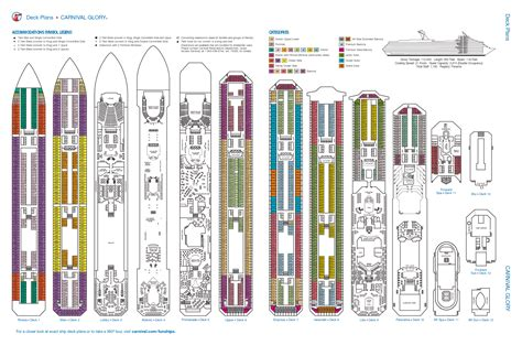 Galerry printable deck plans carnival glory