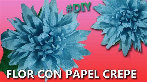 como hacer flores con papel crepe paso a paso tutorial como hacer flores de papel crepe f 193 ciles paso a paso