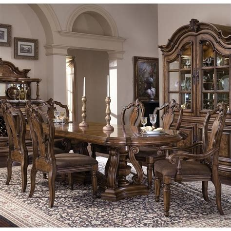 san mateo 7 dining set in brown finish 6622 pkg