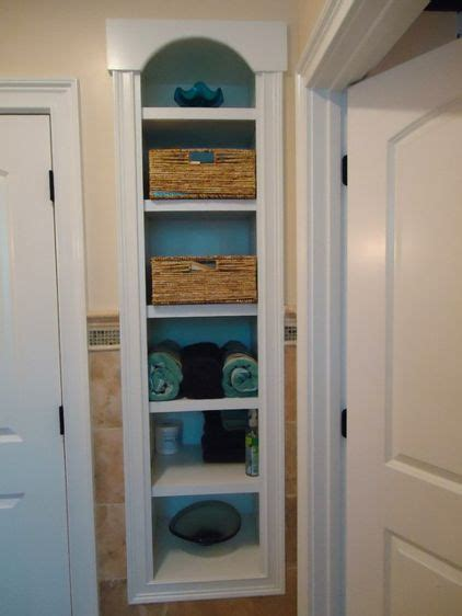 Built In Bathroom Shelves Traditional Bathroom By Kevinallencarpentry