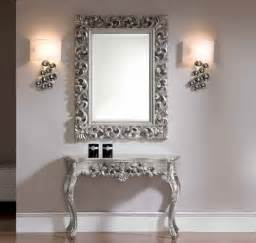 Silver Home Decor by Esf Gold Silver Console Ck58 And Mirror Epu049 Set