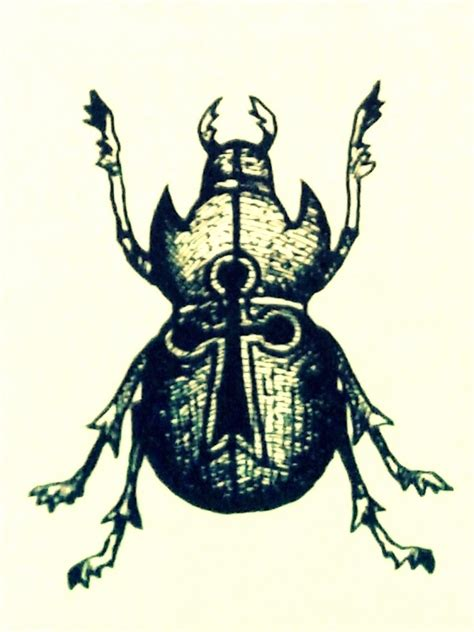 russian criminal tattoo scarab as symbol for good luck