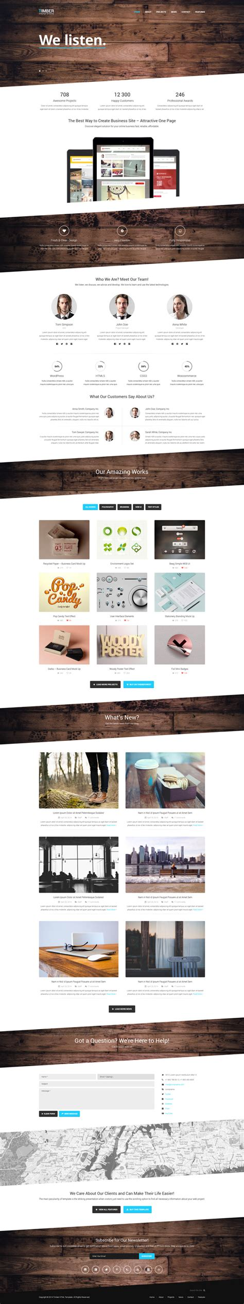 free one page website template timber free one page bootstrap template gt3 themes