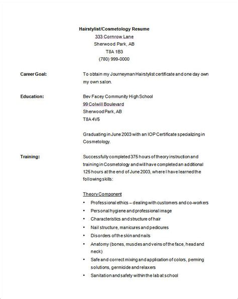 cosmetologist resume targer golden dragon co