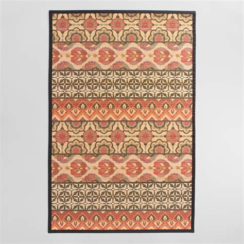 4 x6 jaipur stripe printed bamboo area rug world market