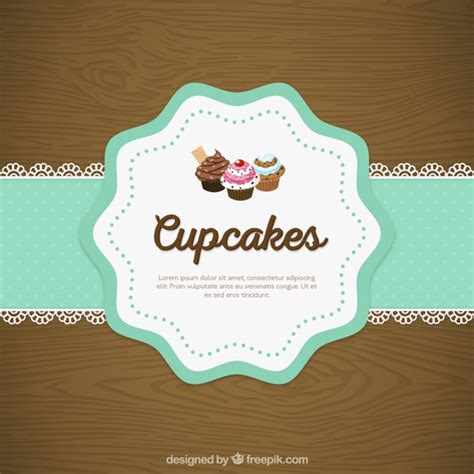 cupcake doily lace vector free download