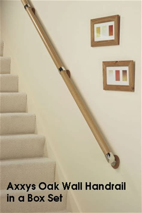 Wooden Stair Banisters Easy To Order Wooden Wall Handrail Sets Stair Banister Rails