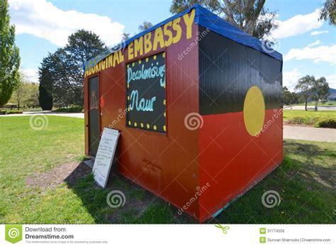 aboriginal embassy canberra australia stock image