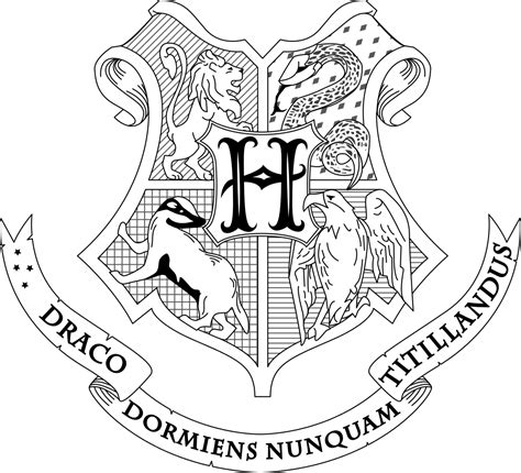 harry potter coloring pages house crests harry potter coloring pages hogwarts crest coloring home
