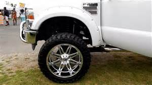 Mud Tires For 24 Inch Rims Lifted Ford F250 Superduty On 24s With 38 Quot Tires At