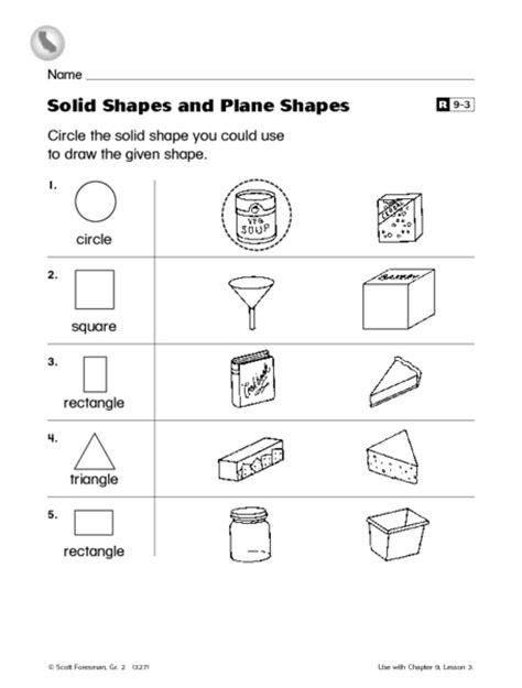 printable solid shapes worksheets plane figures worksheet 2nd grade free printable
