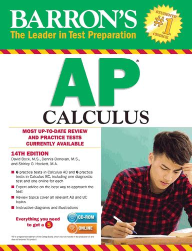 barron s ap calculus 14th edition barrons ap calculus with cd rom