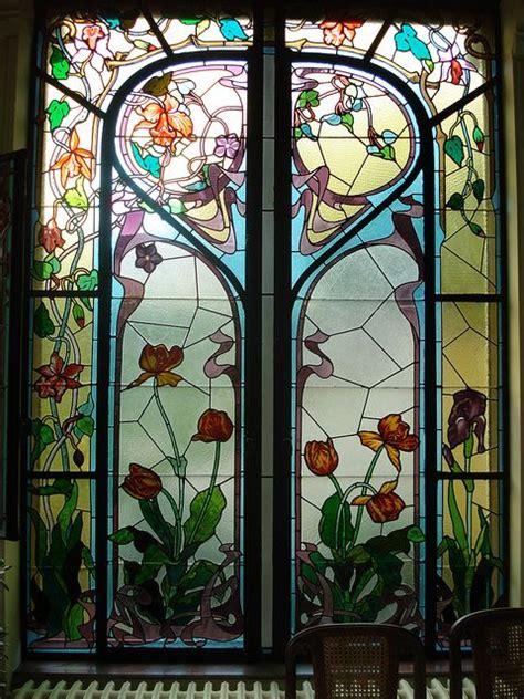 bleiverglasung jugendstil nouveau stained glass vetri colorati
