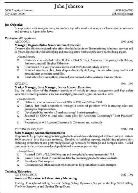 Professional Exles Of Resumes by Professional Resume Sle Free Sle Curriculum Vitae