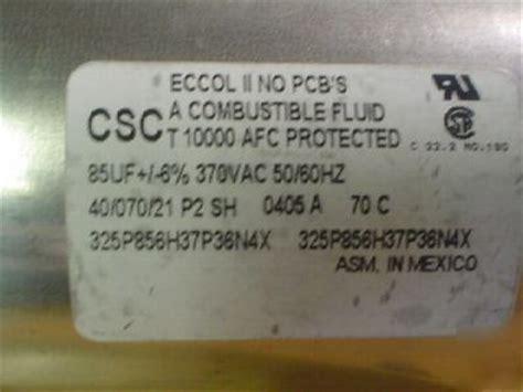 csc capacitors new 1 csc 370v 85uf a c motor run capacitors