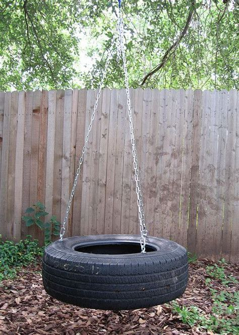 backyard tire swing diy outside make a tire swing by jennifer ofenstein