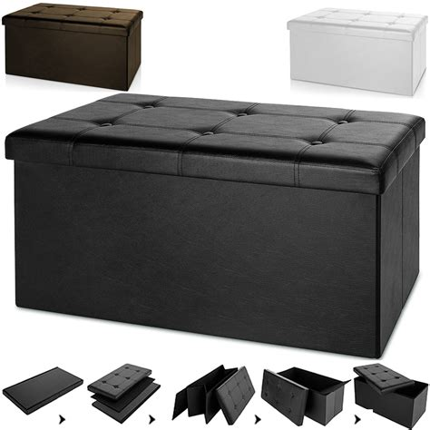 grey ottoman storage box stool bench ottoman storage box cube seat black grey white