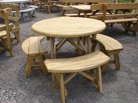 wooden picnic table with benches wooden detached bench picnic tables kauffman marketplace