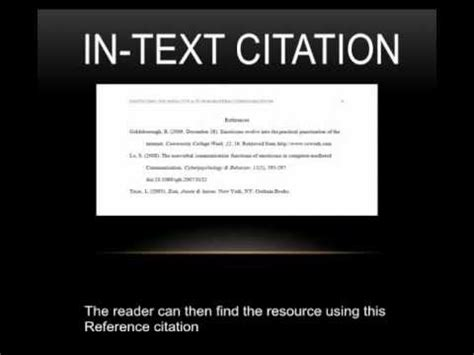 apa format youtube video in text citation apa in text citation direct quote