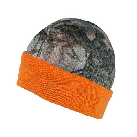 orange camo beanie mens reversible camo orange fleece beanie hat by 3