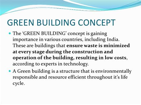 Green Building Concept Ppt Ppt Green
