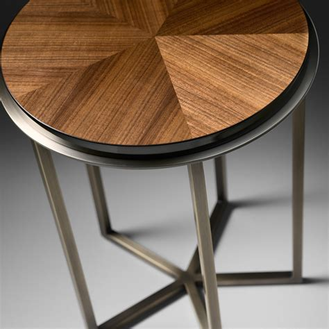 high end accent tables high end italian walnut veneered side table