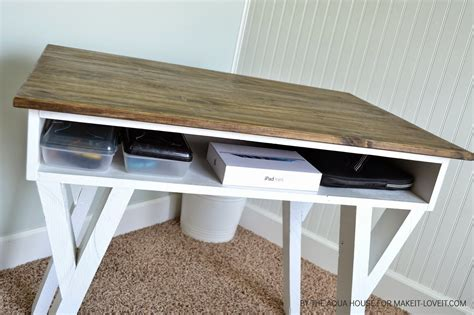 Farm Desk by Diy Farmhouse Modern Desk With Open Front Storage Cubby