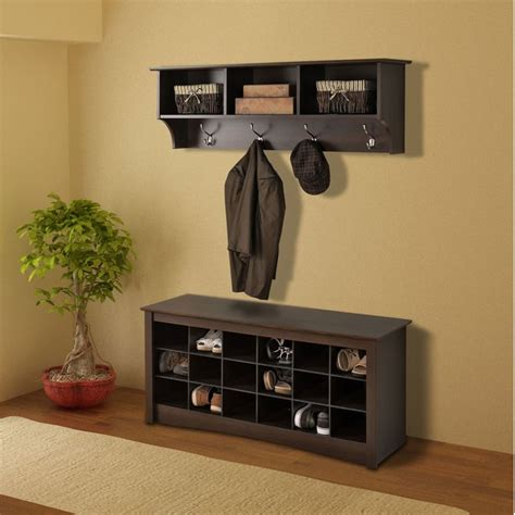 everett espresso shoe storage cubbie bench shoe storage cubbie bench entryway shelf hall trees