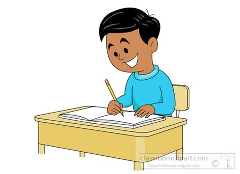 student at a desk school clipart student sitting at desk writing in