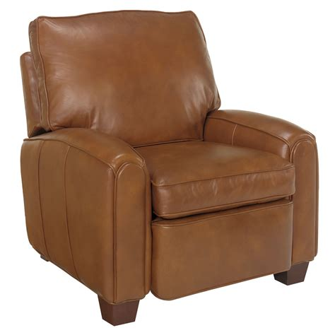 lyndon quot designer style quot pillow back leather recliner