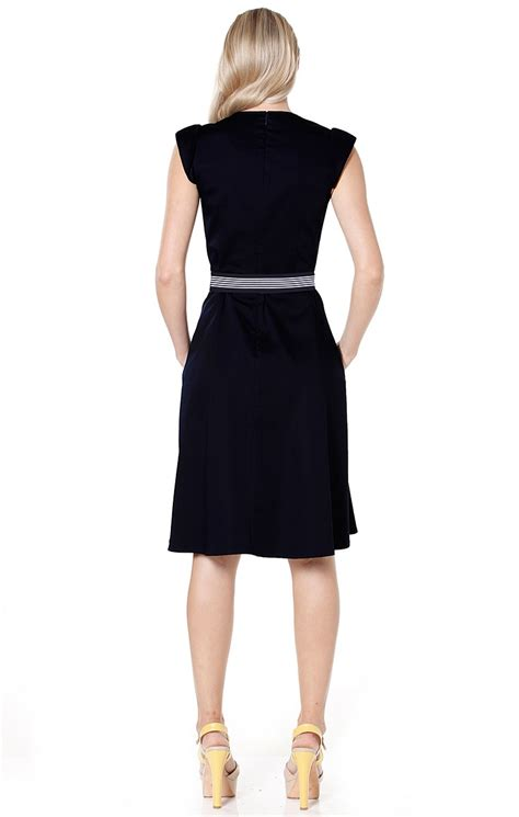 shop all solutions fit and flare belted knee length a