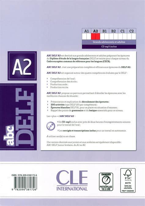 abc delf livre de livre abc delf 200 exercices messageries adp