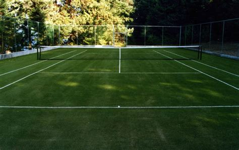 Backyard Tennis Courts Synthetic Grass Tennis Turf Tomko Sports