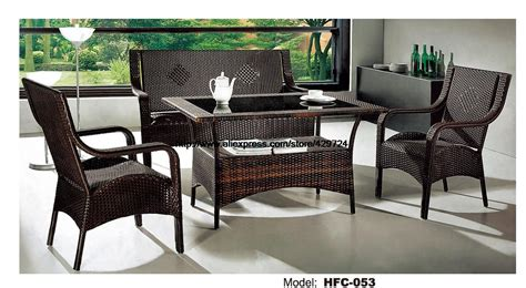 Low Price Rattan Sofa Chair Table Set Hot Sale Wicker Low Price Patio Furniture Sets
