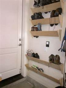 shoe racks for our garage walls by the house
