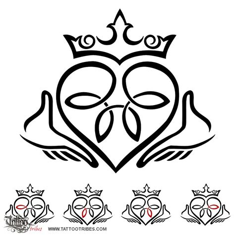 claddagh tattoo designs of claddagh friendship loyalty