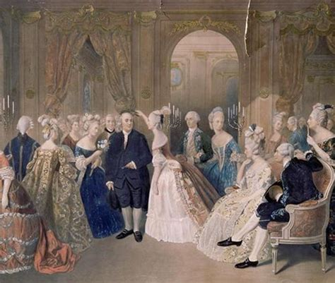 caf礙 geller benjamin franklin at the court of louis xvi painting by
