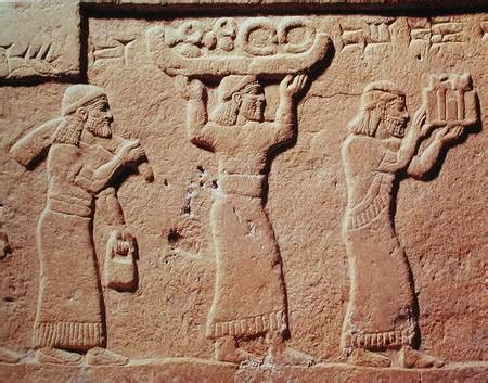 lade artistiche relief depicting porters laden with gift assyrian