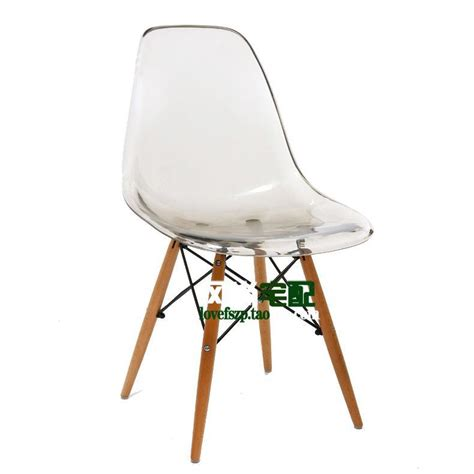 eames chair crystal clear acrylic plastic chairs ikea stylish simplicity dinette designer work