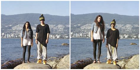 these photos of couples switching clothes will mess with