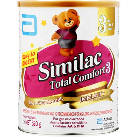 similac total comfort stage 1 similac total comfort stage 3 growing up milk 820g clicks