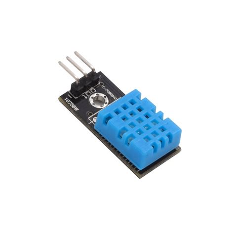 Dht11 Sensor Temperature And Humidity With Breadboard dht11 humidity and temperature sensor module smart prototyping