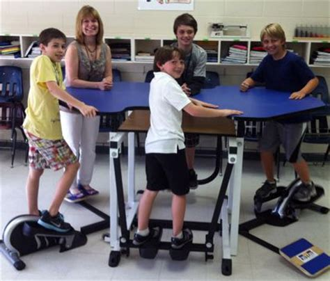 kinesthetic classroom pedal desks why exercise desks could help children learn