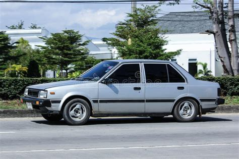 nissan sunny old model private old car nissan sunny editorial stock image