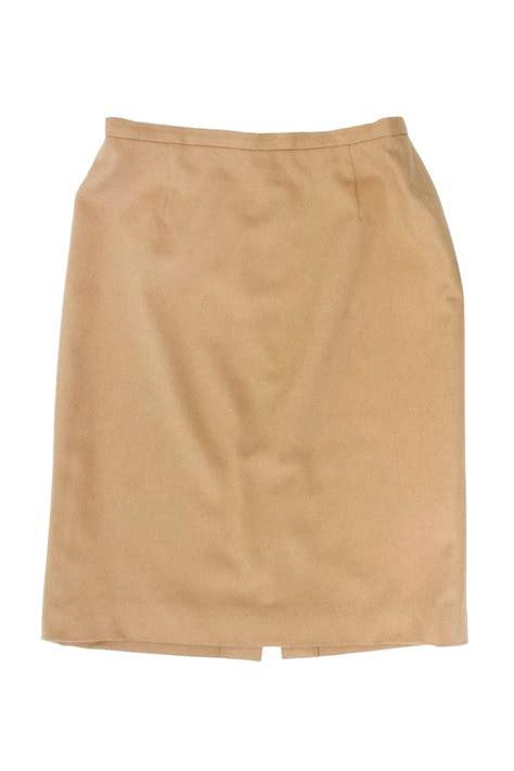 escada camel wool rabbit blend pencil skirt sz 12